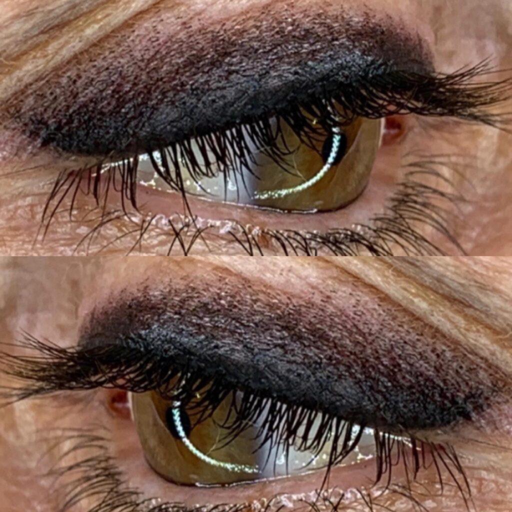 PMU occhi ombretto effetto artistico Kellyane Santana Master PMU